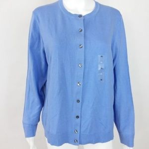 NWT! Karen Scott Cardigan Sweater Blue  -16